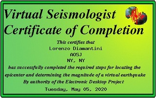 Seventh Graders became virtual seismologists
