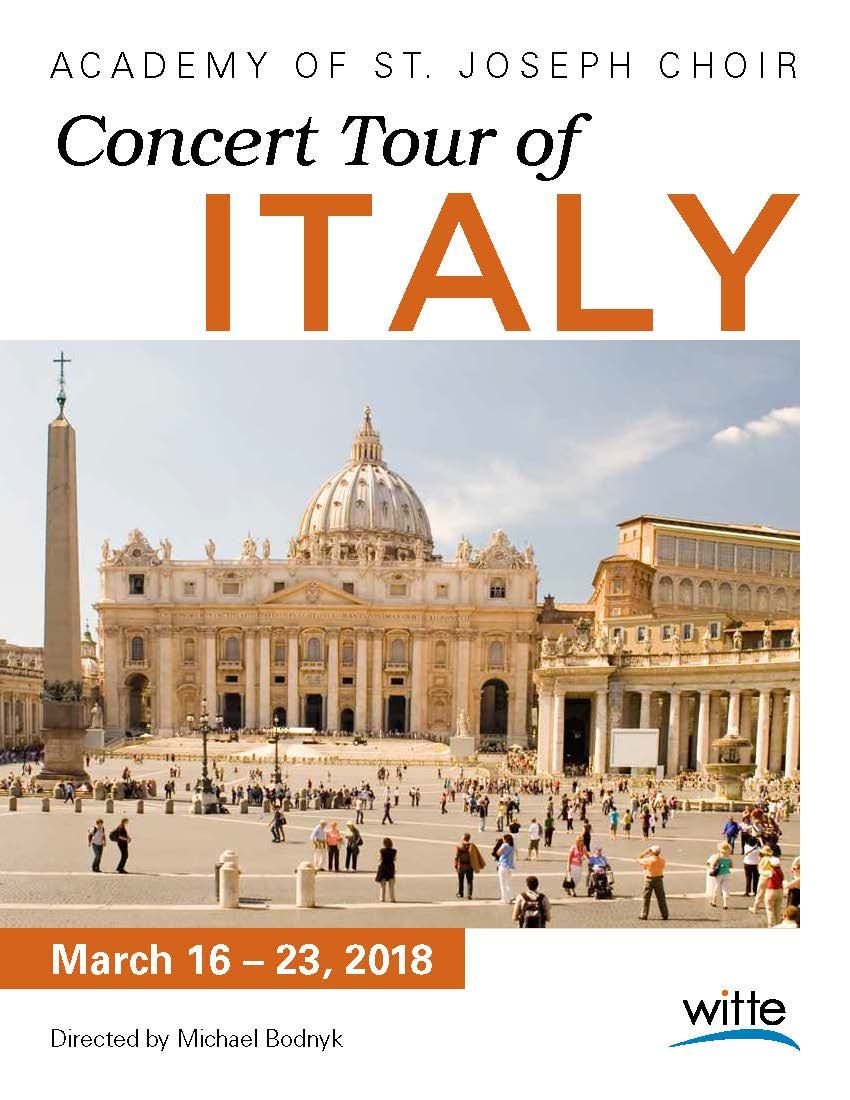 Academy of St. Joseph Choir Concert Tour of Italy