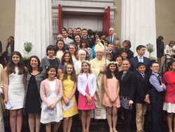 7th and 8th Graders Receive The Sacrament of Comfirmation