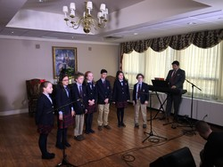 AOSJ Students Sing For Cardinal Dolan
